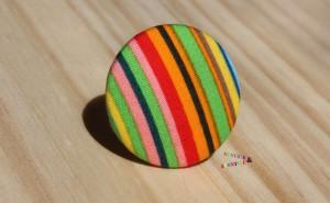 bague bouton raillé