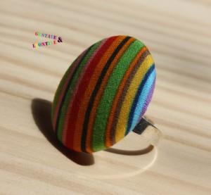 bague rayé coloré 2