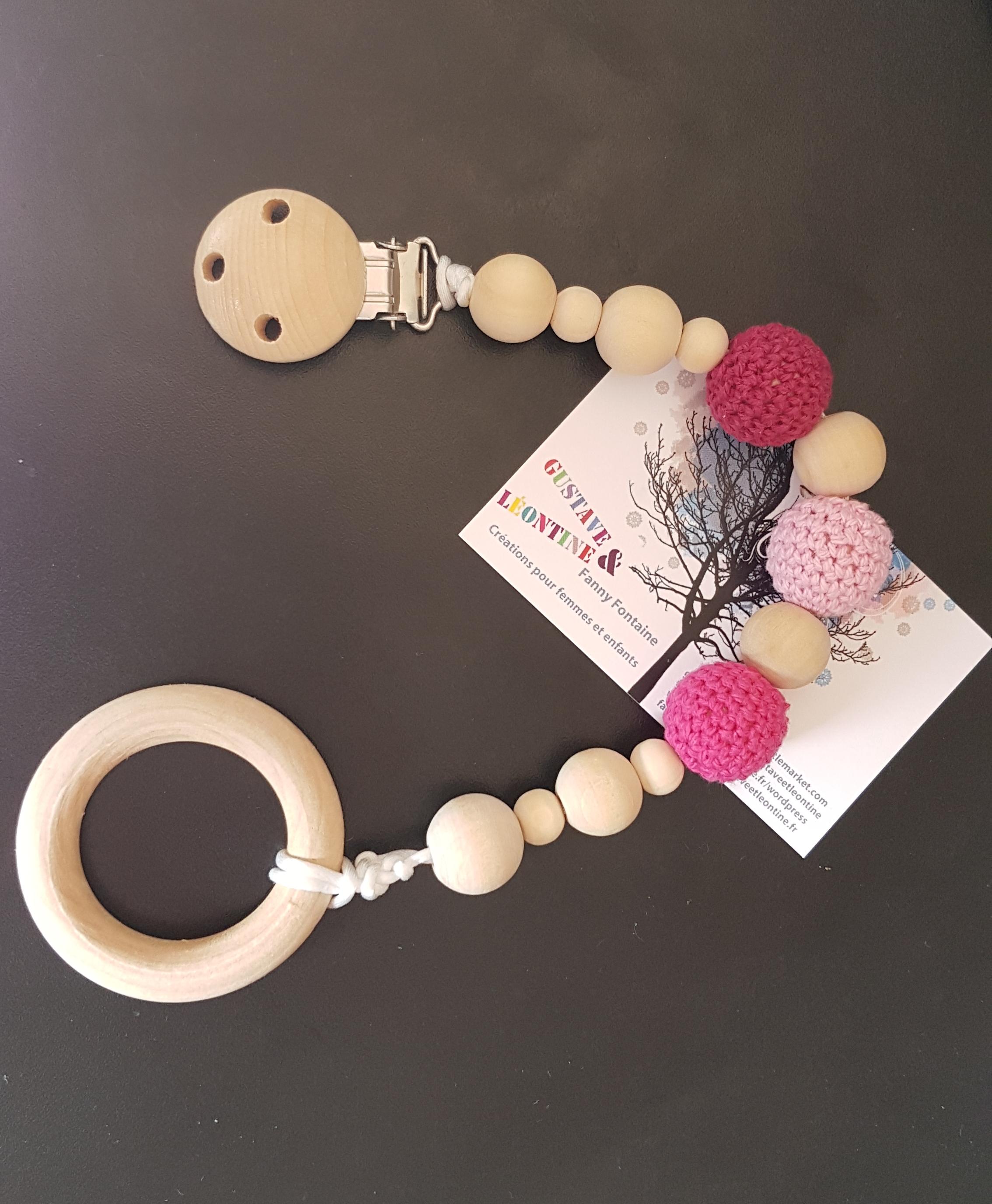 anneau dentition et attache bois et crochet